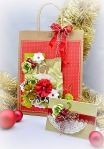 gwen - xmas gift wrap bag and card set 1