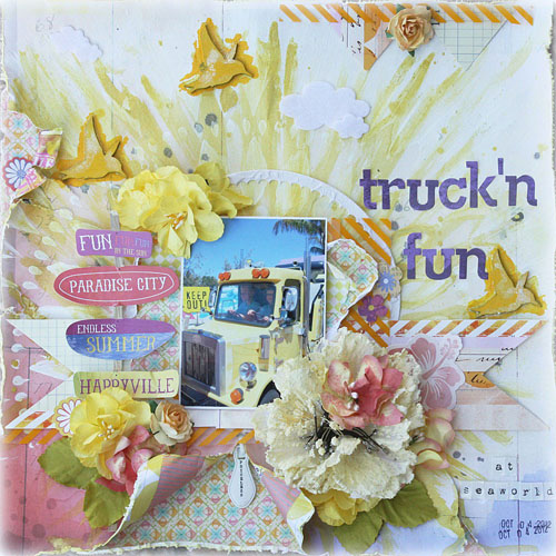 Melinda Thompson - Colourful Layout - December 2012