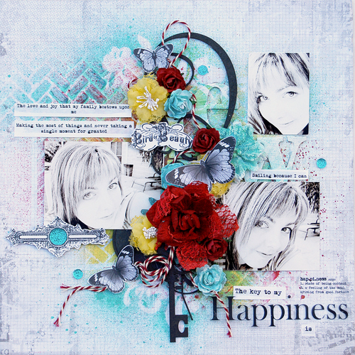 MHC Layout 'Happiness' byTrudi Harrison