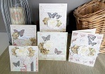 Nerrida Mitchell - butterfly bling cards set 1