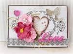pink love card