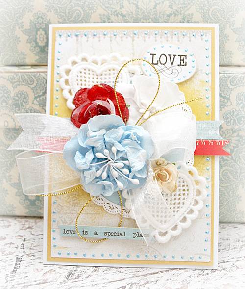 valentines card - blue 1