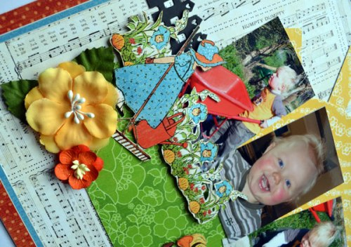 Graphic 45;Mother goose;layout; closeup 2;march;karen shady