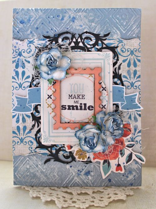 You Make Me Smile card - blog